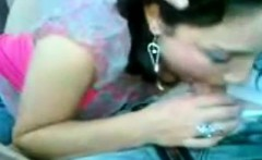 gorgeous arabic woman licking within the vehicle