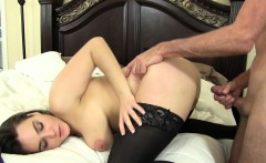 Voluptuous girl rides a thick cock before getting hammered doggy style