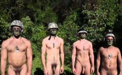 Naughty nudes outdoors gay Taking the recruits on their firs