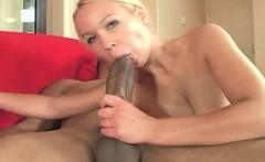 Hot body slut eats and fucks huge black dick
