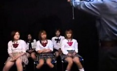Beautiful Japanese schoolgirls enjoying the pleasures of le