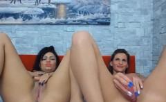 Horny Lesbian Babes Masturbating on Cam