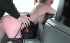 Busty amateur blonde passenger drilled to off her fare