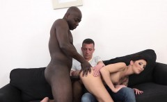 Cum Craving Cuckold wife fucked by black man rough anal