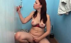 Kinky redhead fucking hardcore in the gloryhole