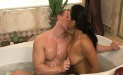 Busty asian tugging in jacuzzi