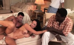white wife takes white cock in front of black husband