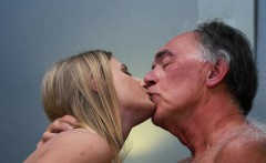 Blonde Teen Fucked Hairy Old Man she loves getting sex