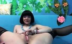Kinky brunette emma diamond stockings fetish solo