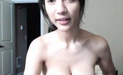 Hot Girl Masturbates with Mach