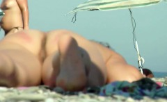 voyeur nude beach babe close up back and front pussy