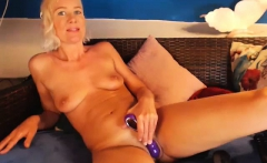 Sexy french milf webcam masturbation and cum in mouth