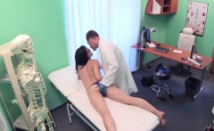 Busty brunette fucked by her doctor
