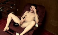 Smooth and muscular twink Brian Strowkes opens a packs of