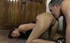 Milf face sitting her massive ass on submissive stud