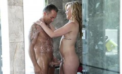 Lovely masseuse Nicole Clitman pounded after giving massage