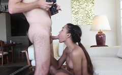 Sexy looking asian shemale favors her dude with a blow
