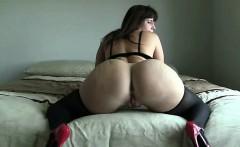 Brunette glamour women in stockings masturbate