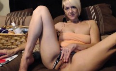 Amateur Mature MILF Striptease On Webcam