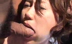 Asian japanese amateur has deep throat