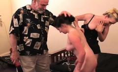 Flaming nude thrashing and bizarre bondage porn