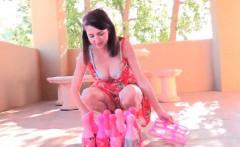 Sex redhead super busty teen Lexi toys pink