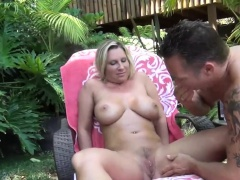 busty blonde MILF Devon Lee pounded outdoor
