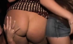 ridiculous night out as excited girls share a thick schlong