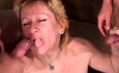 Cumming on face and mouth grannies