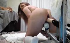 Teen Blonde Masturbation Machine