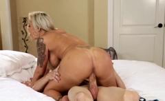 Glamorous blonde amateur pussy fucks cock
