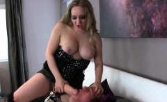 Girls penetrate fellas anal hole with huge strapons and spla