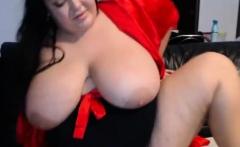 Hottie Bbw Caught On Webcam