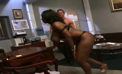 Ebony slut on big cock