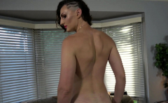 Casting shemale tugging her dong