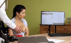 Big boobs Czech MILF sucks and fucks to get her loan