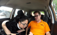 Very Cute Driving Student Fucks Outdoor