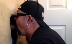 Man Cums To Feed At The Gloryhole