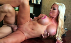 Busty Babe Keeps a Job With Her Pussy