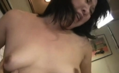 Horny mature with large saggy love muffins rides a hard pole