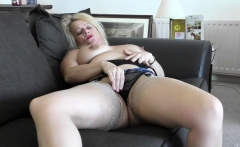 British mature sex and cumshot