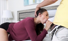 Mr Carrrera feed Sofie Reyes a mouthful of cock