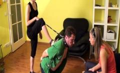 Femdom Ladies slaps slaves