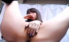 Japanese busty girl masturbation solo