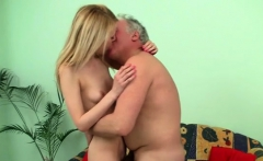 Kinky old dude gets with a tight young cunt