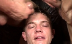 Close up of gay ass cumshot Cody's Bukkake Party