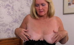 British mature Antoinette playing with herself