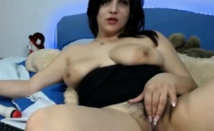 BBW with big tits and bush sucks on used dildo