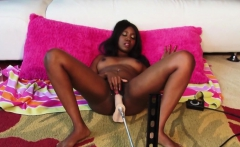 Ebony Nina gets her cunt drilled