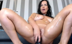 Shaved Milf Using A Dildo And Play Her Own Tight Asshole